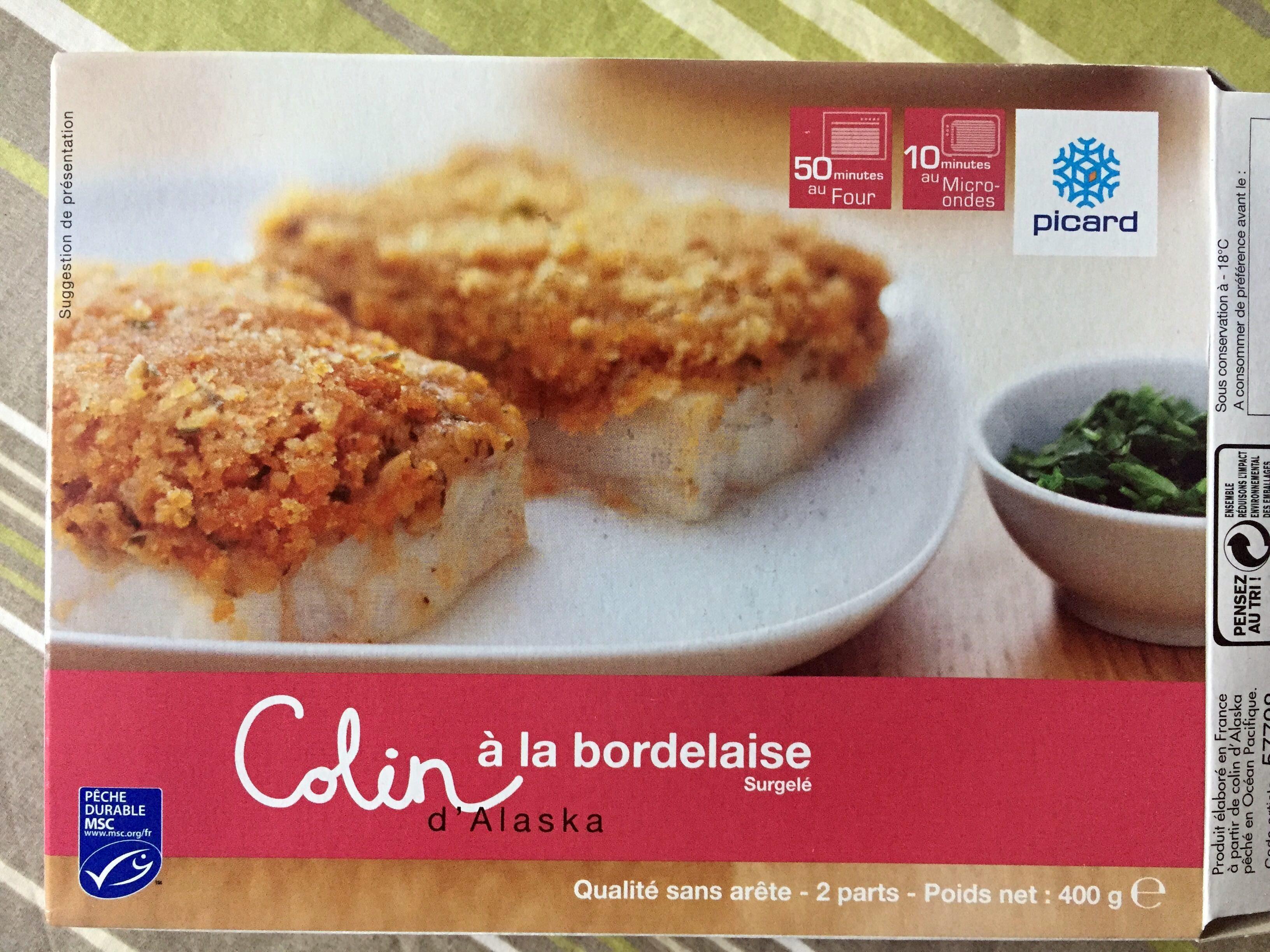Colin d 39 alaska la bordelaise surgel picard 400 g - Cuisiner du colin surgele ...