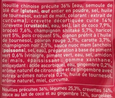 Nouilles aux crevettes et aux légumes - Ingredients - fr