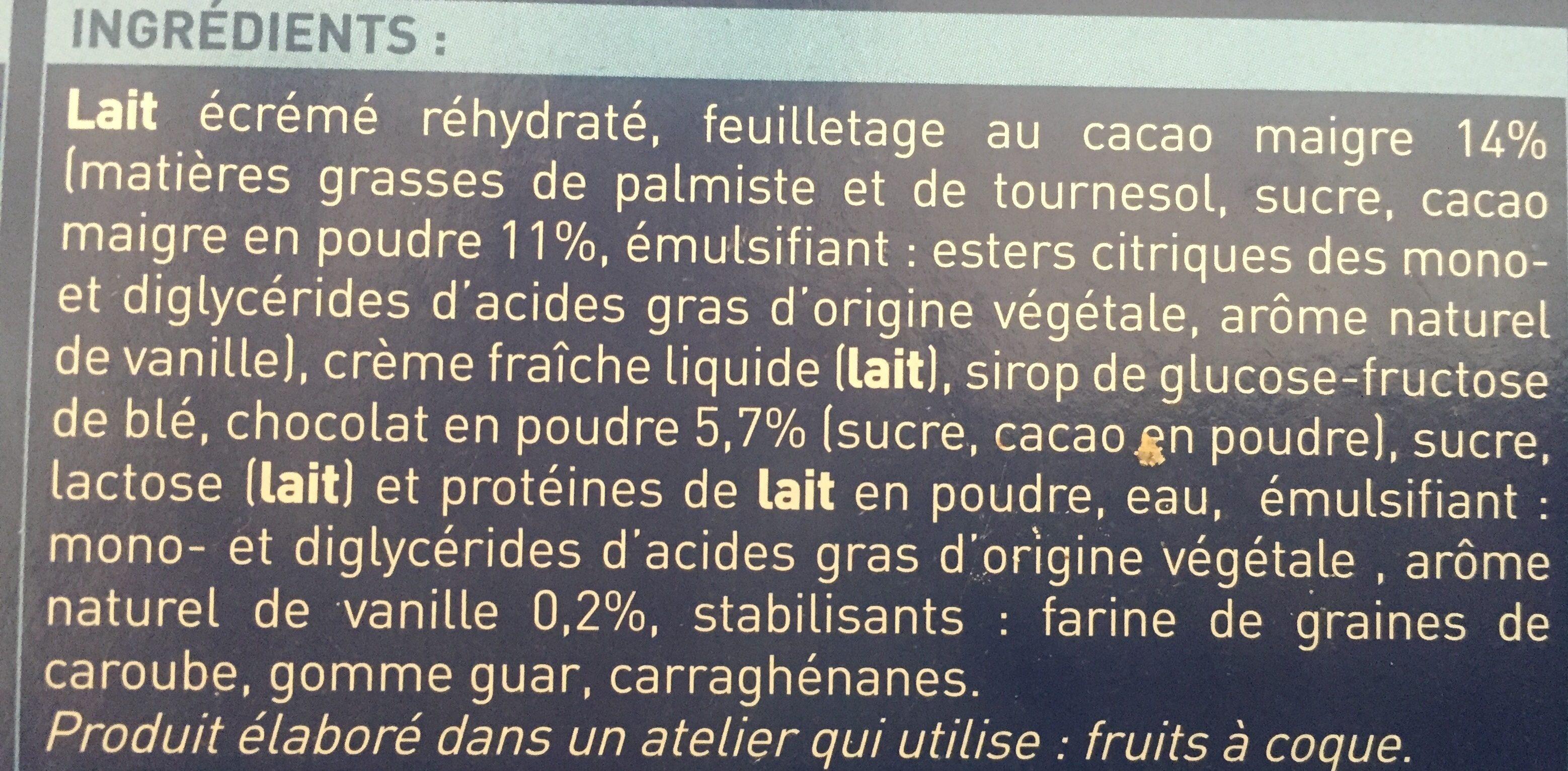 Adagio Vanille-chocolat - Ingrédients - fr