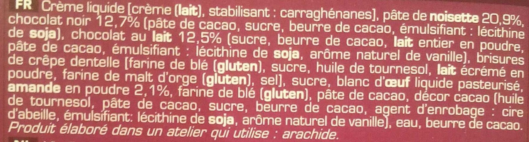 Croquant chocolat - Ingrédients