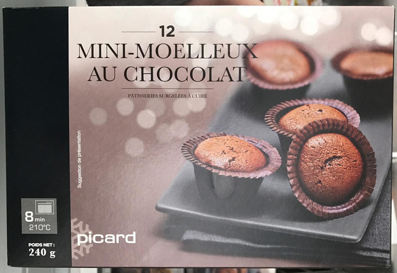 12 mini moelleux au chocolat picard 240 g. Black Bedroom Furniture Sets. Home Design Ideas