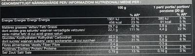 12 Mini-Moelleux au Chocolat - Voedingswaarden - fr