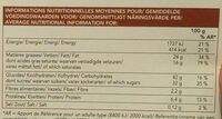 Fondant au Chocolat surgelé - Voedingswaarden - fr