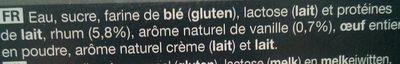 9 petits canelés - Ingredients