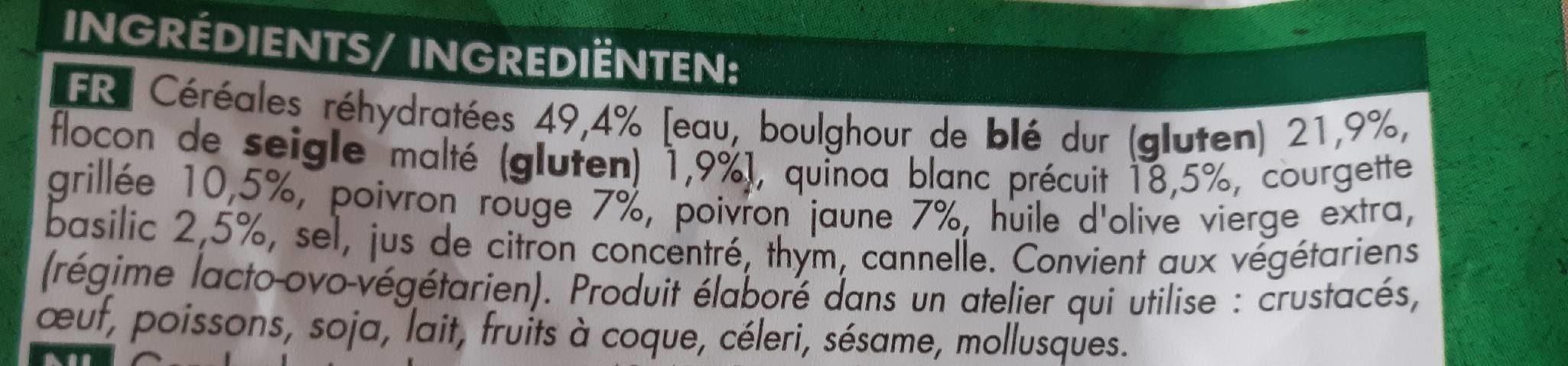 Quinoa et céréales cuisinés / légumes - Ingrédients