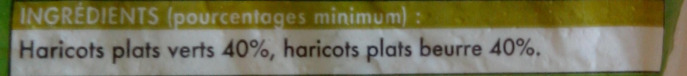 Duo de haricots plats coupés - Ingrédients