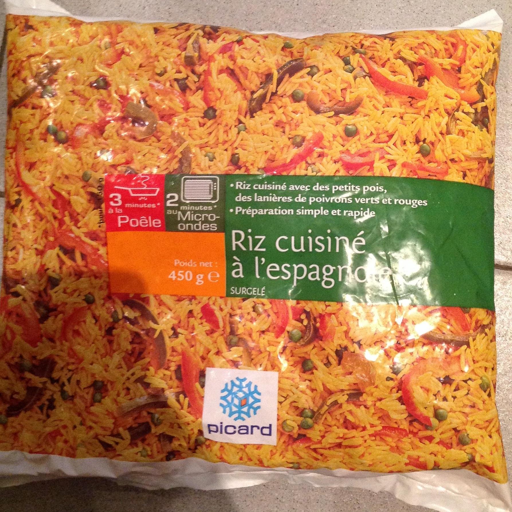 riz cuisiné à l'espagnole - picard - 450 g