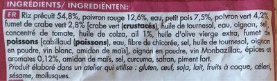 Riz cuisiné à l'espagnole - Ingredients