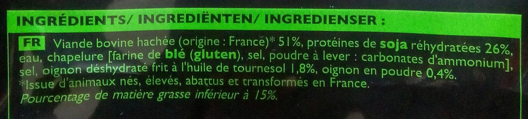 Boulettes au Bœuf et aux Oignons Crues - Ingredients - fr