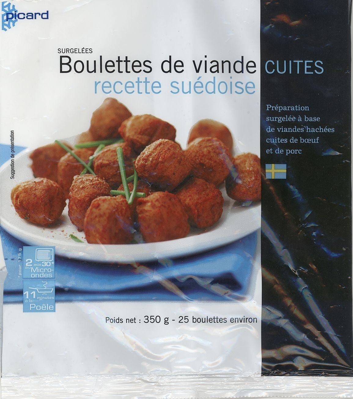 Boulettes de viande cuites recette suédoise - Produit - fr