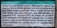 Boulettes de poulet cuites à la thailandaise - Ingrédients - fr