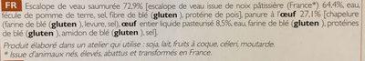 2 Escalopes de Veau à la Milanaise - Ingredients