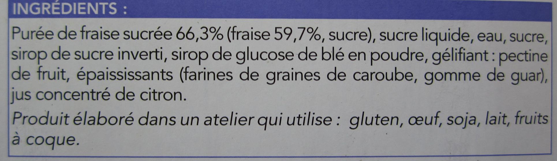 La fraise - Ingredients - fr