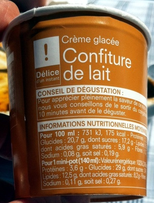 Crème glacée Confiture de lait - Produit - fr