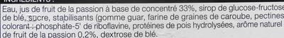 Sorbet fruit de la passion - Ingrédients - fr