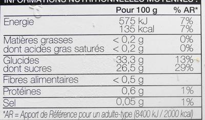 Sorbet fruit de la passion - Informations nutritionnelles - fr