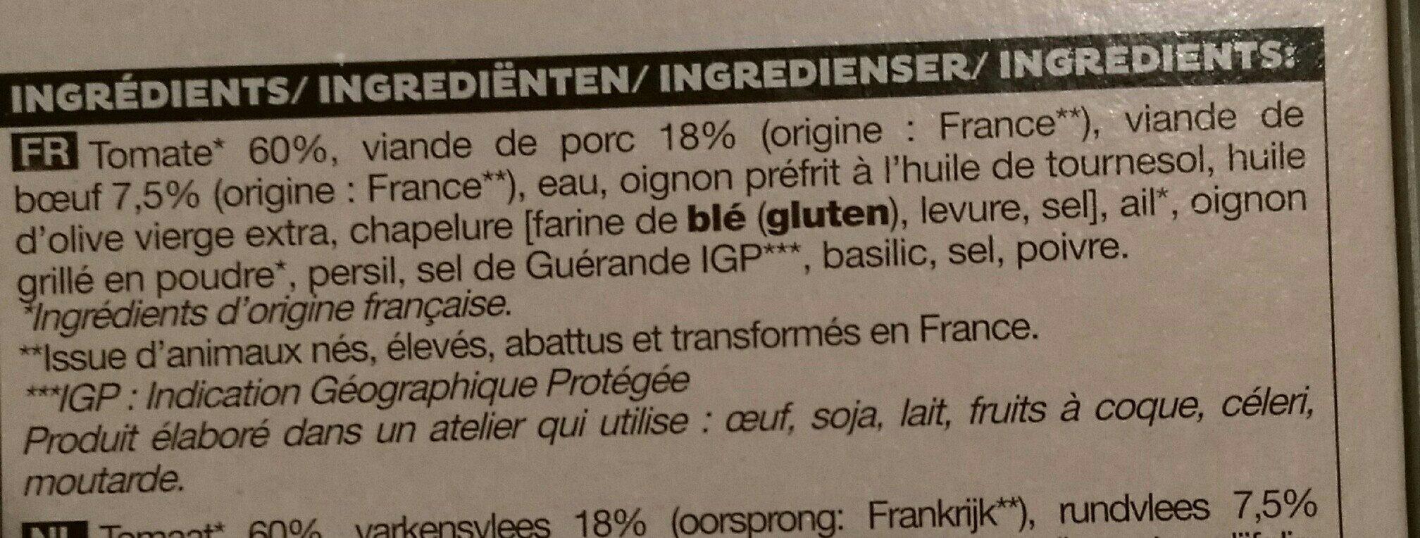 4 Tomates farcies - Ingrédients - fr