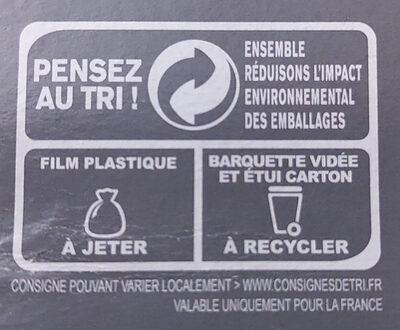 Parmentier de Canard, Surgelé - Instruction de recyclage et/ou information d'emballage - fr