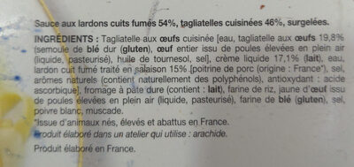 Tagliatelles à la carbonara - Ingrediënten - fr