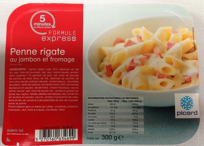 Penne rigate au jambon et fromage surgel es picard 300 g for Plats cuisines picard