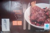 Agneau confit et compotée de légumes du soleil surgelés - Product - fr