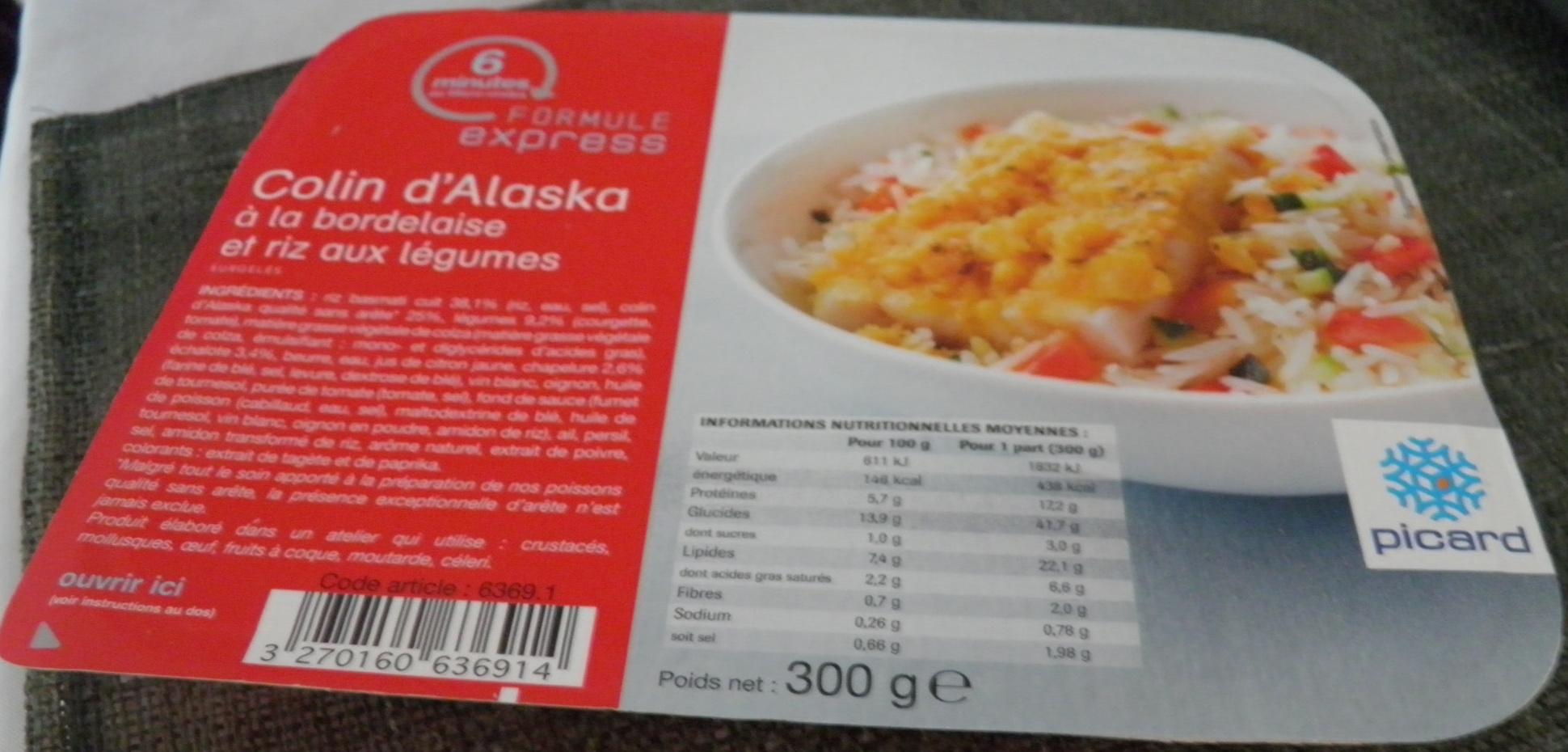 Colin d 39 alaska la bordelaise et riz aux l gumes - Cuisiner du colin surgele ...