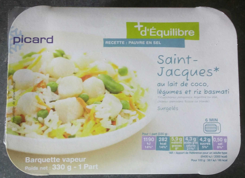 Saint-Jacques au lait de coco, légumes et riz basmati - Produit