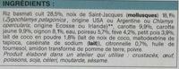 Saint-Jacques au lait de coco, légumes et riz basmati - Ingrédients