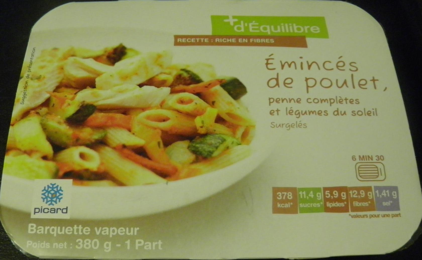 Emincés de poulet, Surgelés (1,6 % MG) - Product