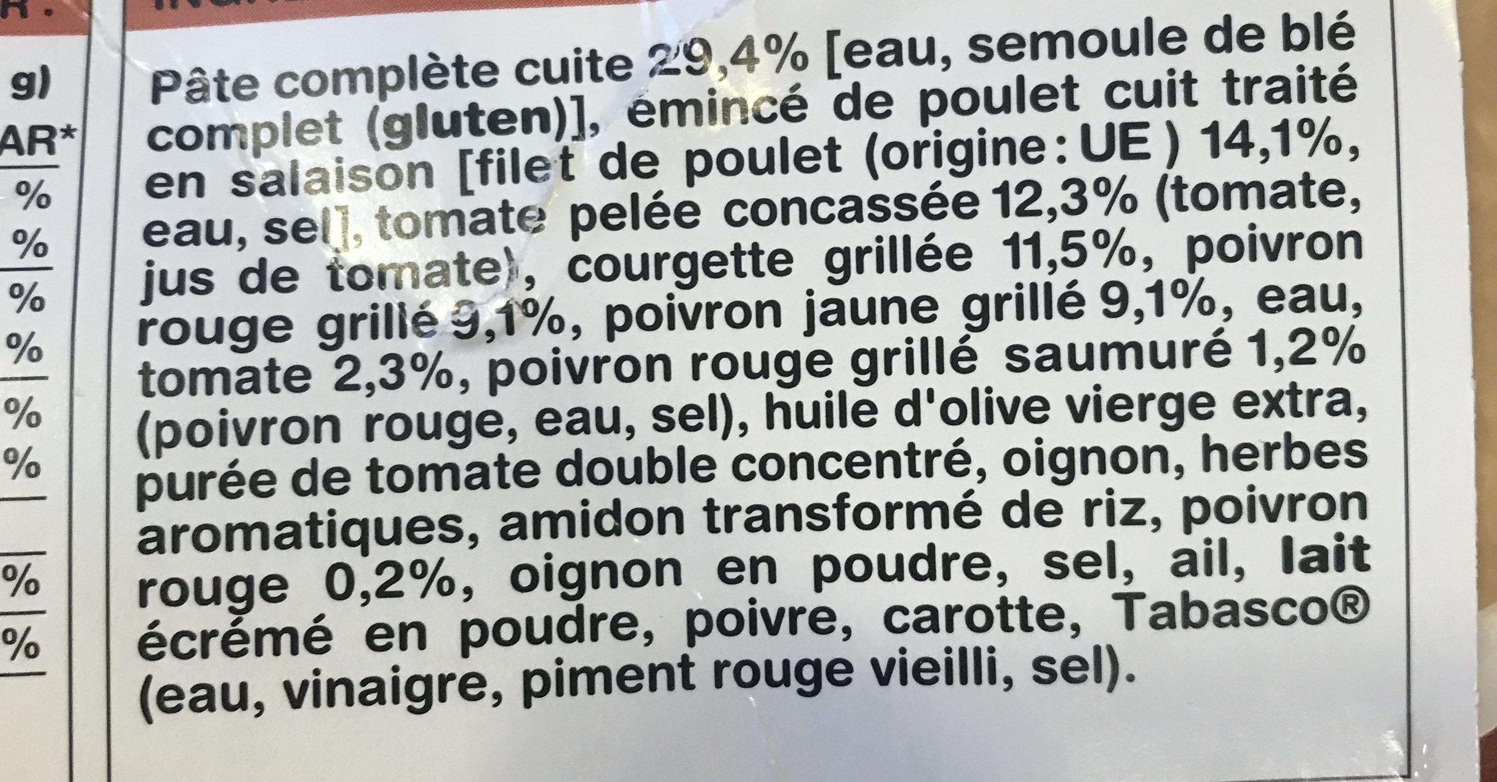 Emincés de poulet, Surgelés (1,6 % MG) - Ingrediënten