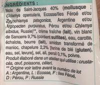 2 Coquilles aux Noix de Saint-Jacques et au Vin de Sancerre - Ingredients - fr