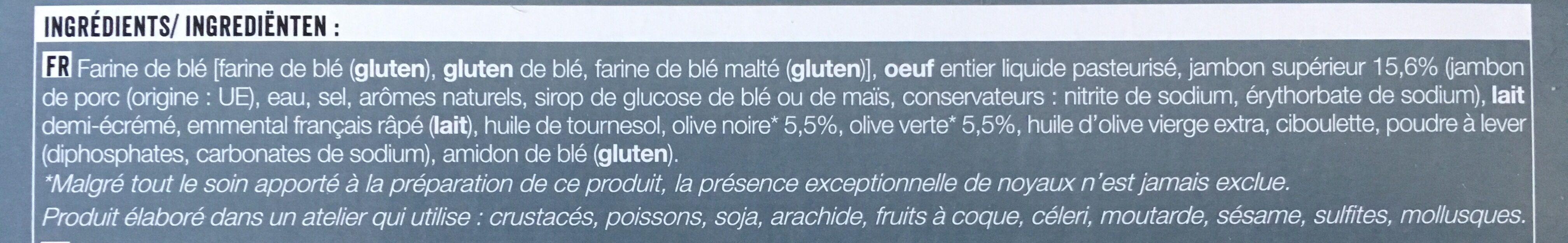 Mini cake jambon olives - Ingrediënten