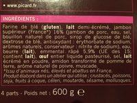 Feuilleté jambon emmental - Ingrédients - fr