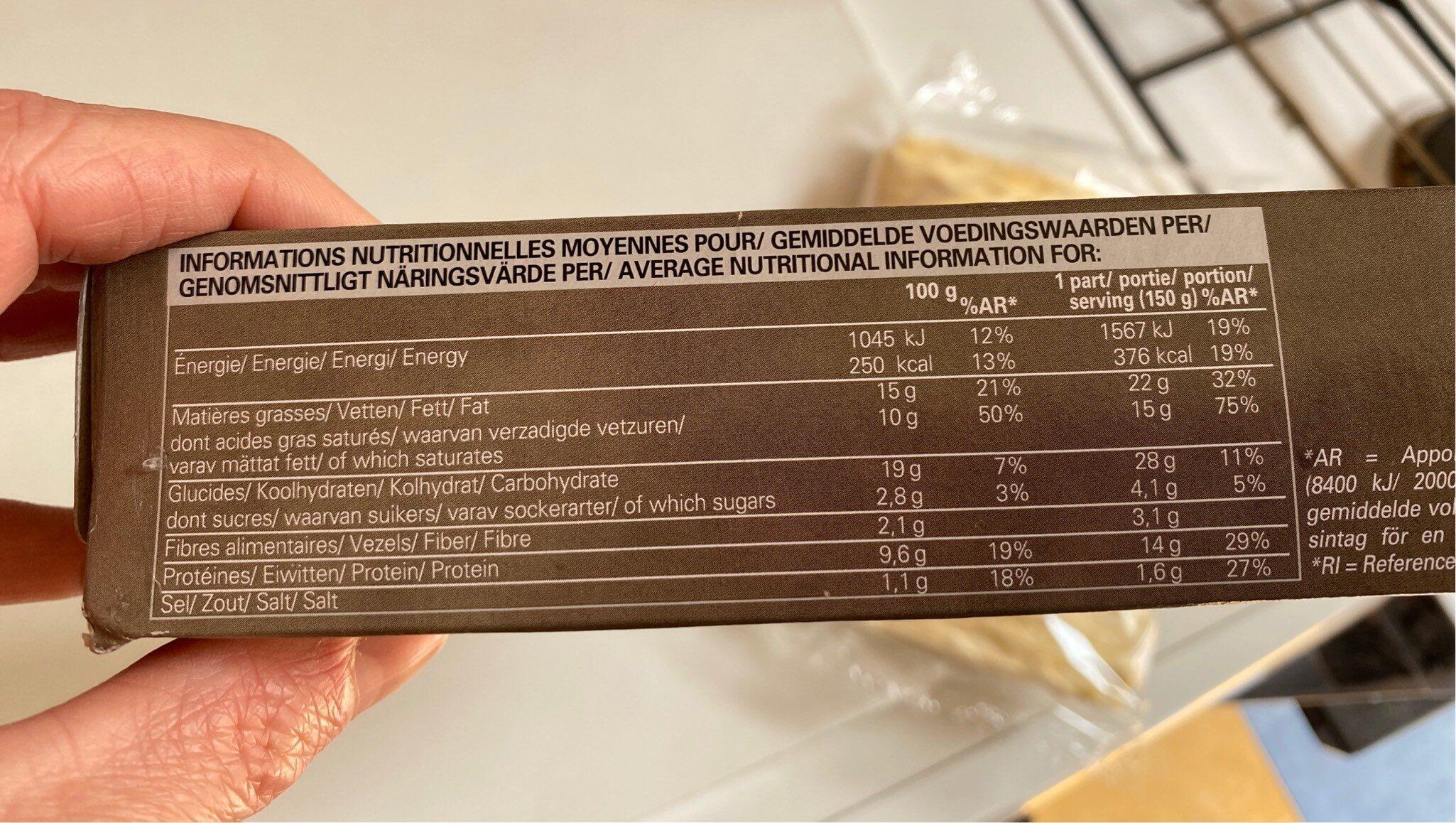 Feuilleté jambon emmental - Informations nutritionnelles - fr