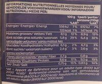 COQUILLE AUX NOIX DE SAINT JACQUES - Nutrition facts - fr