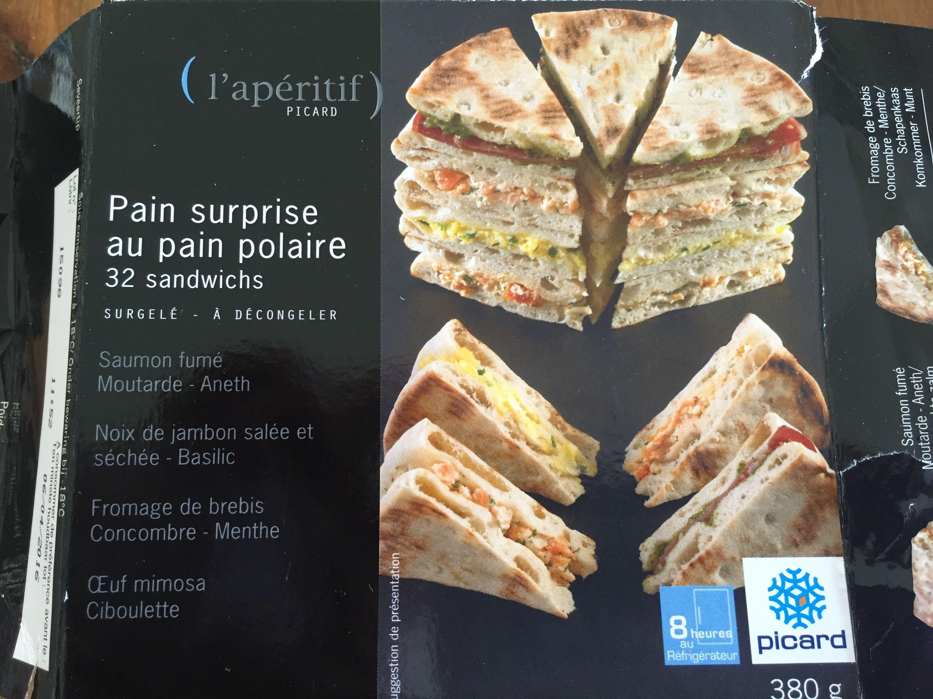 pain surprise au pain polaire picard 380 g. Black Bedroom Furniture Sets. Home Design Ideas