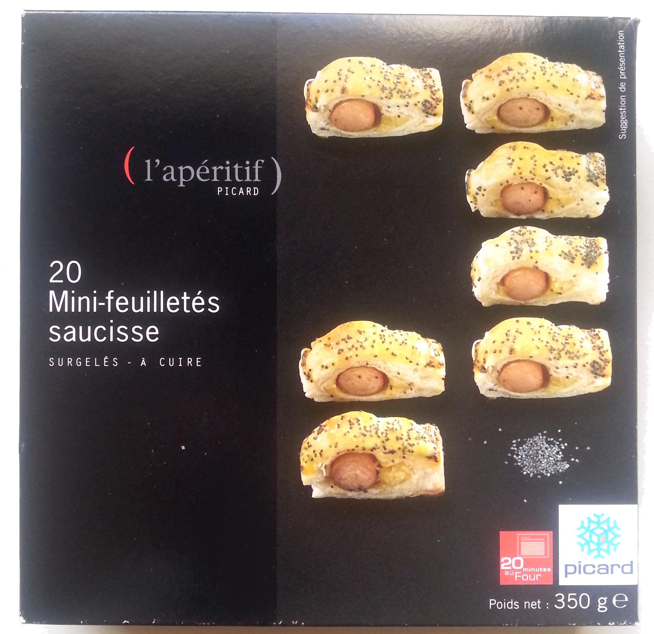 20 Mini-feuilletés saucisse - surgelés 350 g - Product - fr