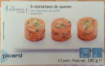 6 mini-tartares de saumon aux légumes du soleil - Product