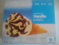 Cônes intenses Vanille avec copeaux de chocolat noir - Produit - fr