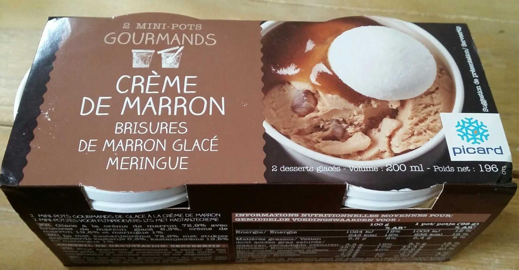 Crème de marron brisures de marron glacé meringue - Produit