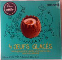 Oeufs Glacés Chocolat Au Lait, Crème Glacée Vanille, Sauce Caramel 4 x 45ml - Produit