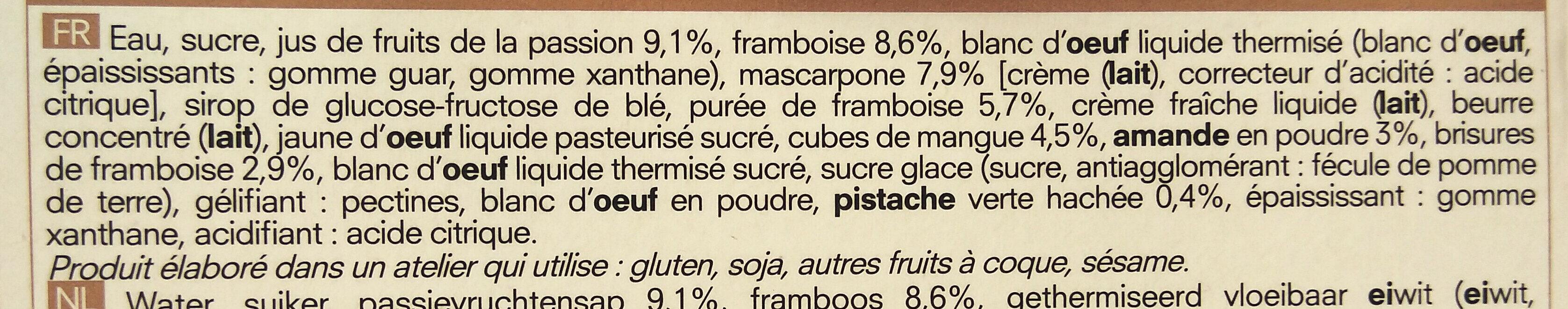 Tiramisu aux fruits - Ingrediënten - fr