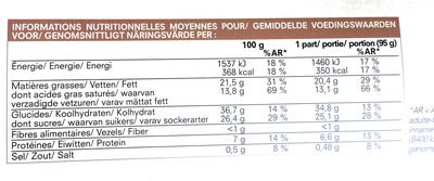 Cheesecake - Informations nutritionnelles - fr
