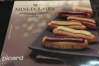 12 Mini-éclairs Praliné, Caramel Au Beurre Salé, Chocolat, Café - Product