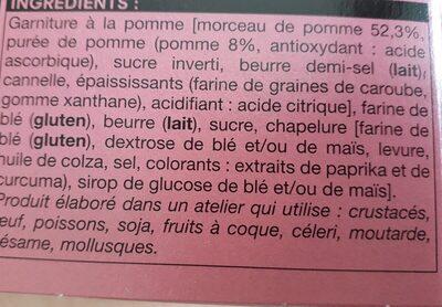 Crumble pommes - Ingrediënten