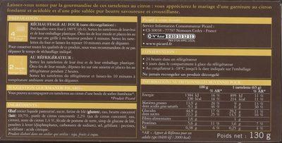 2 Tartelettes Au Citron - Voedingswaarden