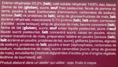 Tiramisu - Ingrédients