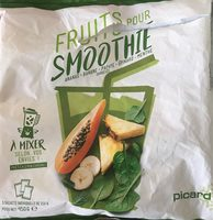 Fruits pour smoothie : Ananas, Banane, Papaye, Épinard, Menthe - Produit