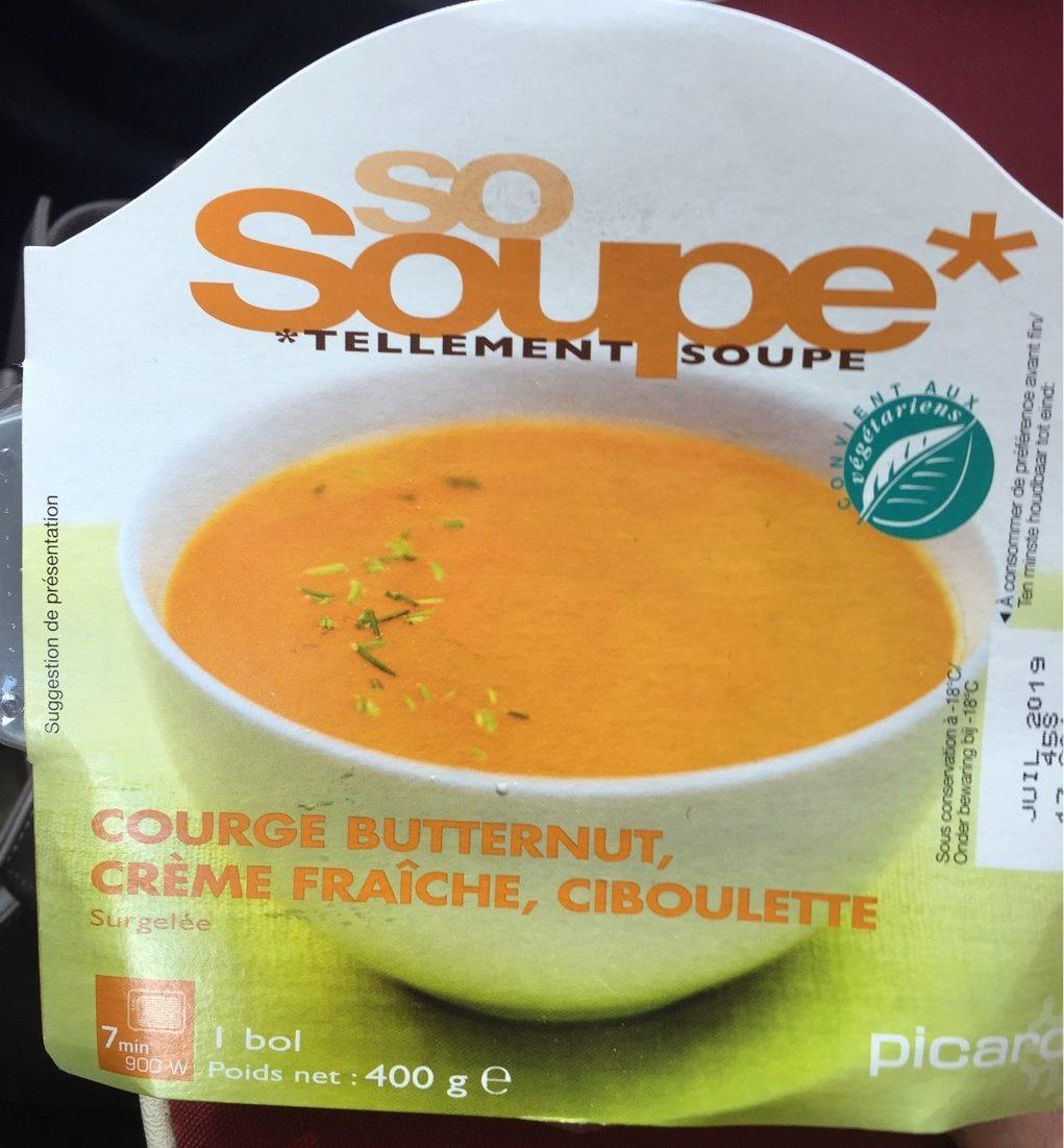 So Soupe Courge Butternut, Crème Fraîche, Ciboulette - Produit - fr