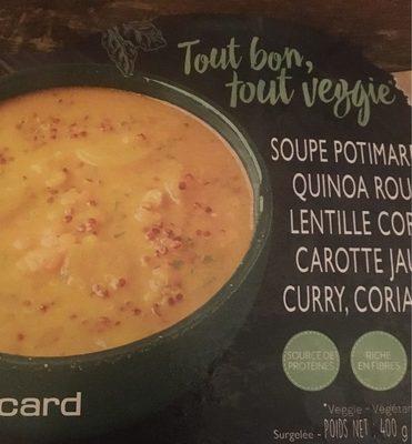 Soupe Potimarron, Quinoa Rouge, Lentille Corail, Carotte Jaune, Curry, Coriandre - Product - fr